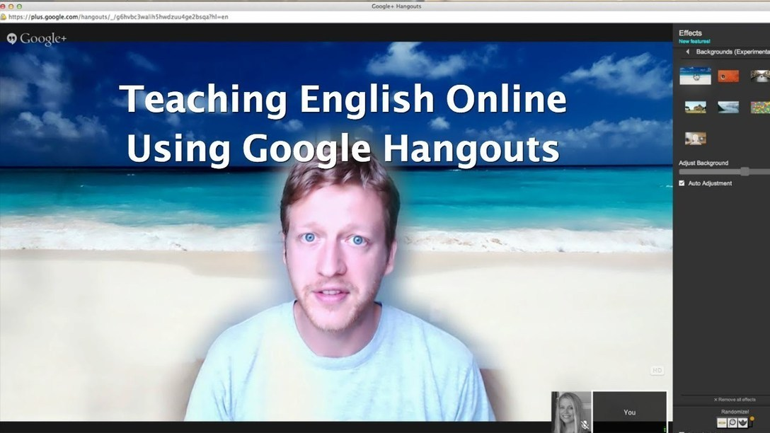 Teach English Online Using Google Hangouts - YouTube