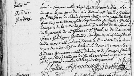 Le 21 avril 1770 – enterrement d'un Élève Vétérinaire | CGMA Généalogie | Scoop.it