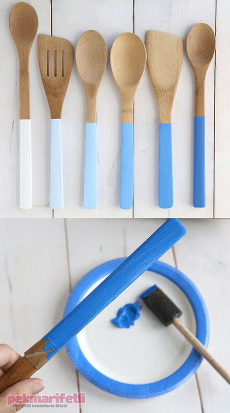 Ahşap kaşıklarınızı mutfağınıza uyumlu hale getirin | El Yapımı | Pek Marifetli! | KADIN SİTESİ | Scoop.it
