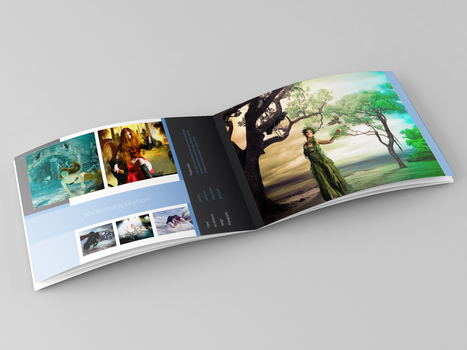 "28 Pages ""US Letter - Landscape"" Portfolio 