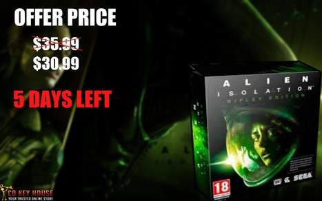Every Day Special Offer. Today: Alien: Isolation Cdkey steam at $30.9 5 Days Left | Exciting Offers of Games, Weekly Giveaway at CD Key House | Scoop.it