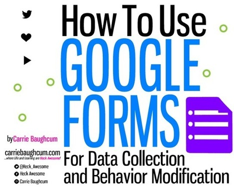 Google Forms for Data Collection and Behavior Modification | Time to Learn | Scoop.it