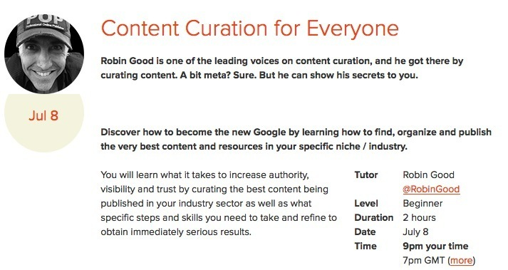 Online Content Curation Master Class with Robin...