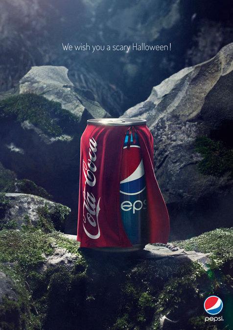 Pepsi é fantasiada de Coca para assustar