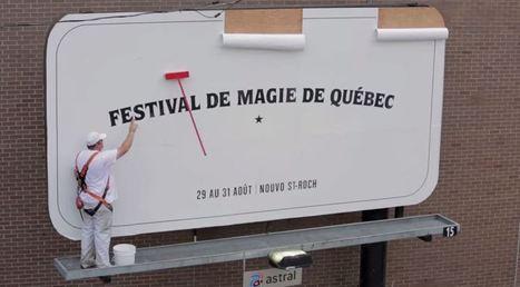 Le Festival de magie de Québec crée un panneau pub magique qui vous étonnera à coup sûr | streetmarketing | Scoop.it
