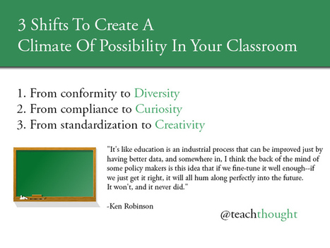 3 Shifts To Create A Climate Of Possibility In Your Classroom | Teaching & Learning & Leadership | Scoop.it