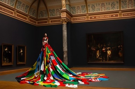 Trans Model Wears Dress Made Of Flags Where Homosexuality Is Illegal | VIP SERVICE Amsterdam™ | Scoop.it