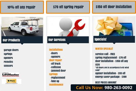Garage Door and More - NC, LLC fix broken garage springs in Charlotte | Garage Door and More - NC, LLC | Scoop.it