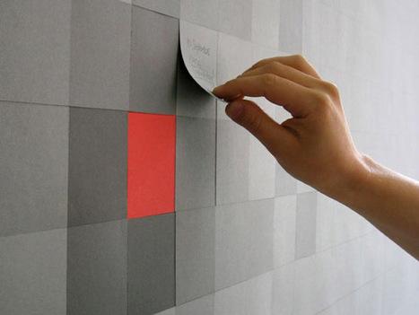 Un mur en post-it pour les fans de Pixel Art | Mes Actus | Scoop.it