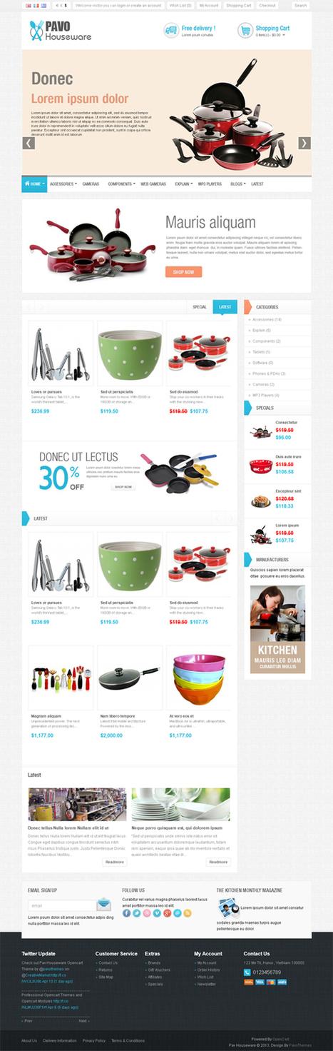 Pavo HouseWare, Opencart Premium Simple Theme | Premium Download | Premium Opencart Themes | Scoop.it
