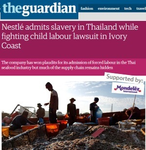 Guardian: un article sur Nestlé... sponsorisé par un concurrent | New Journalism | Scoop.it