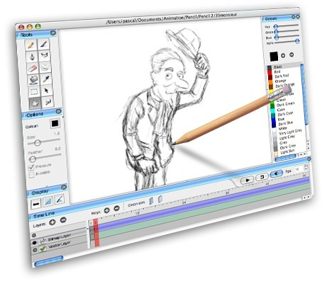 Pencil – a traditional 2D animation software