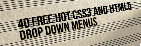 40 Free Hot and Excellent Dropdown menus Created With HTML5 and CSS3 | Creative Verse | Website for educational institution | Scoop.it