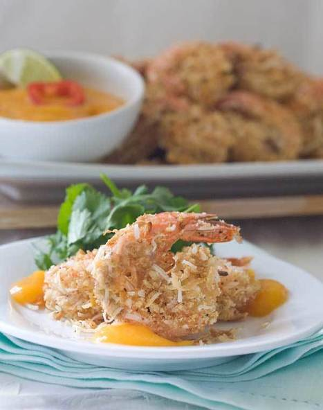 Gluten Free Recipe for Coconut Shrimp & Spicy Mango Sauce | Simply Gluten Free | @FoodMeditations Time | Scoop.it