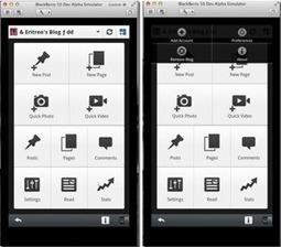 WordPress travail actuellement sur une application Blackberry10 ... | CMS, portail web | Scoop.it
