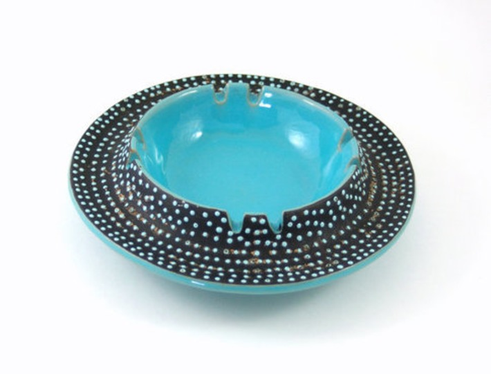 Modernist Turquoise Ceramic Bowl or Ashtray  Made by bitofbutter | Antiques & Vintage Collectibles | Scoop.it