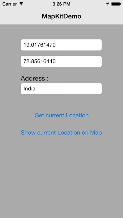 MapKit Implementation in iOS | Mobile-and-web-application | Scoop.it