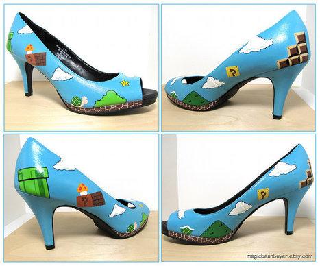 Sexy Super Mario High Heel Shoes | All Geeks | Scoop.it