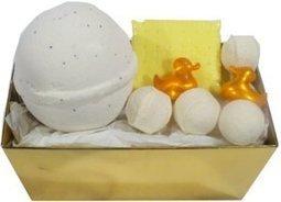 Ballotin de bain vanille - L'Accro du Bain | L'Accro du Bain boutique de produits pour le bain et savons gourmands:boule de bain, savons de Marseille,savon artisanal,cupcake de bain, savons cupcakes | Scoop.it