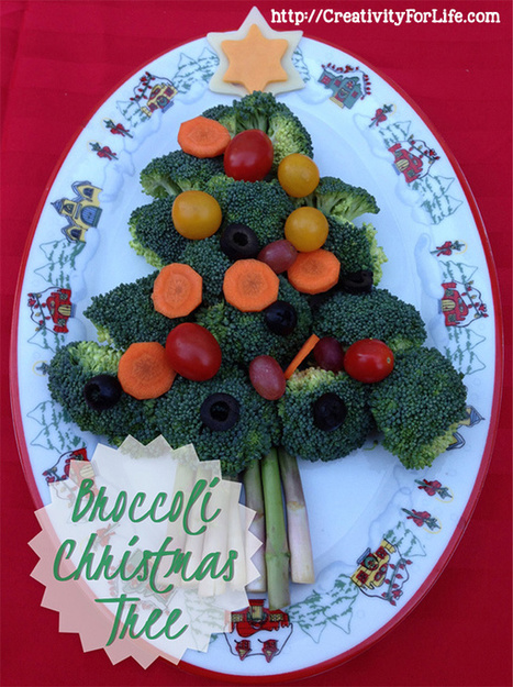 Healthy Food Art: Broccoli Christmas Tree - Creativity For Life | Hábitos Saludables. ALIMENTACIÓN & EJERCICIO& DESCANSO & EMOCIONES | Scoop.it