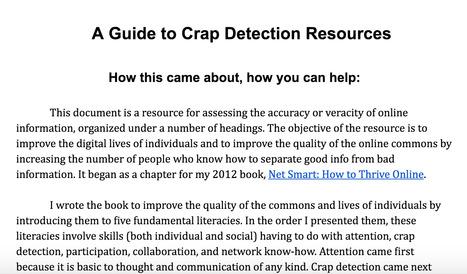 Crap Detection Resources   Capstone: An ESRM Coda   Scoop.it