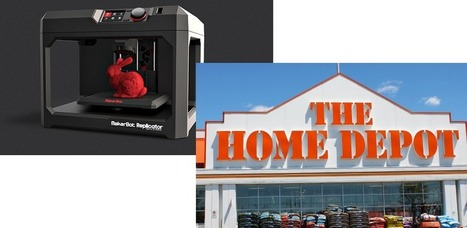 Home Depot Teams With MakerBot to Offer 3D Printers Online and in Stores | 3D Printing and Fabbing | Scoop.it