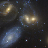 A stunning image of four galaxies smashed together in one tiny corner of the universe | Gentlemachines | Scoop.it