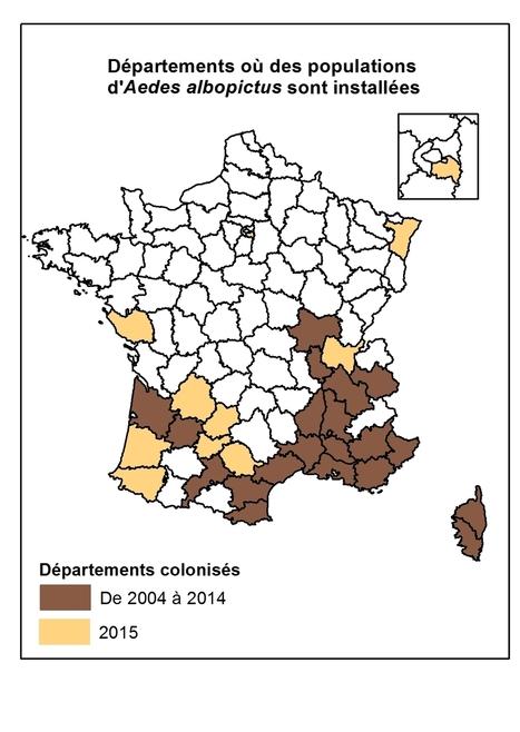 (moustiques) Etat de la colonisation par Aedes albopictus en 2015 | Toxique, soyons vigilant ! | Scoop.it