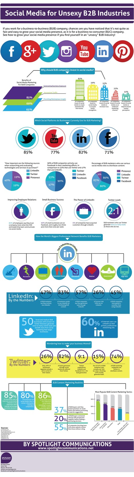 The Best Social Networks for B2B Companies [INFOGRAPHIC] | Social Media Company Valuations and Value Drivers | Scoop.it