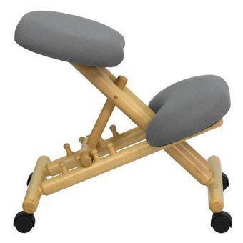 Wooden Kneeling Chair Silver Seat Natural Oak Base | Backs2Beds.ca | Buy Online Office & Home Furniture at Backs2Beds.ca | Scoop.it