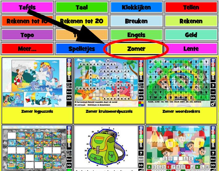 Zomer spelletjes voor de basisschool | Digipuzzle | Educatief Internet - Gespot op 't Web | Scoop.it