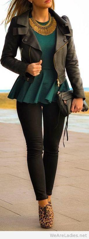 Black and green look   Pintast   Scoop.it