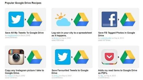 Ifttt incorpora a Google Drive a su repertorio de canales | Gestión profesional de proyectos | Scoop.it