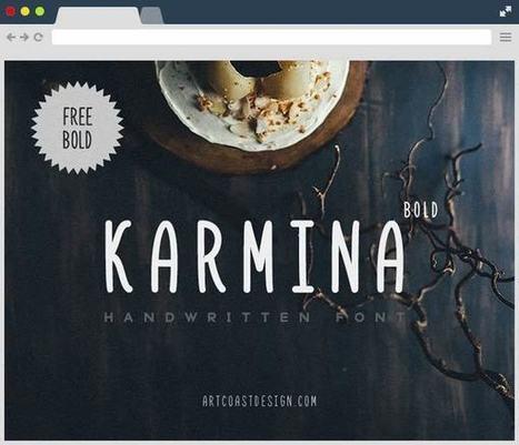 Karmina Bold Free Font | Designrazzi | Bazaar | Scoop.it