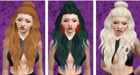 Leahlillith's Night hairstyle retextured by Beaverhausen | Sims 3 Downloads | Scoop.it