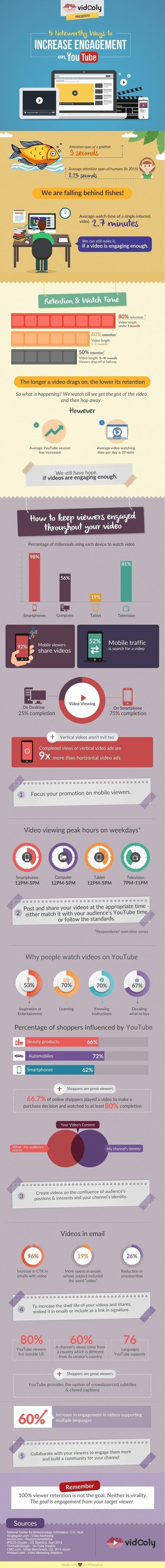 Five Noteworthy Ways to Increase Engagement on YouTube [Infographic] | Mastering Facebook, Google+, Twitter | Scoop.it