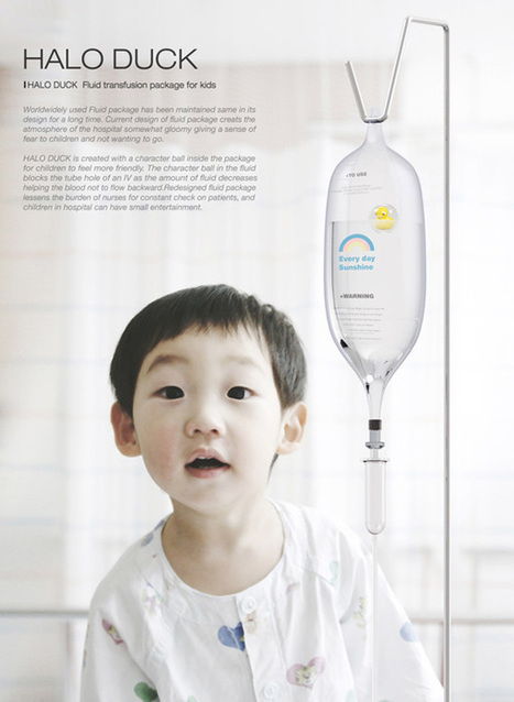 Medical Fluid Pack With A Bobbing Duck In It Cheers Up Young Hospital Patients - DesignTAXI.com | Inspiration: Imagine. See the possibilities. | Scoop.it