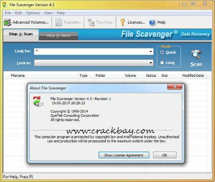 File Scavenger 4.3 License key Crack free downl...