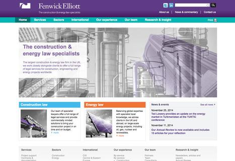 Construction and energy law specialists | Fenwick Elliott | Digital Portfolio by Small Back Room | Scoop.it