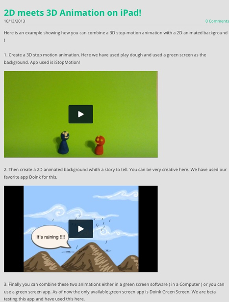 2D meets 3D Animation on iPad! | Go Go Learning | Animation | Scoop.it