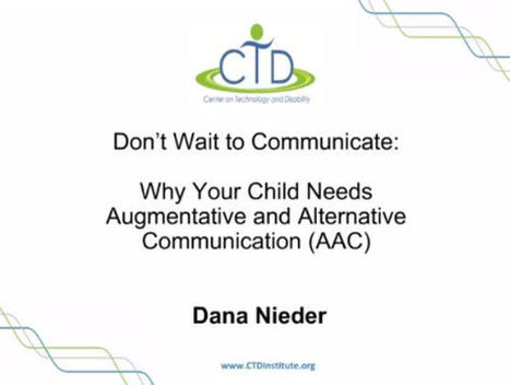 Video of the Week: When Children Need AAC – Families Talking to Families | AAC: Augmentative and Alternative Communication | Scoop.it