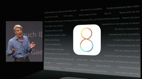 The Coolest iOS 8 Features Apple Didn't Talk - TechCrunch | Tech happens! | Scoop.it