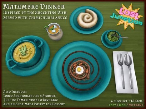 LOST JUNCTION - MATAMBRE DINNER FOR THE  MULTICULTURAL MENU | Second Life - Ethnicity | Scoop.it
