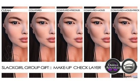 Makeup Check Layer Group Gift By SlackGirl | Teleport Hub - Second Life Freebies | Second Life Freebies | Scoop.it