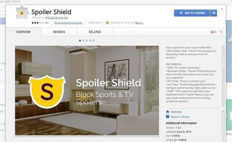 Spoiler Shield Blocks TV Shows & Sports In Your Facebook and Twitter | GoToWebsites | Scoop.it