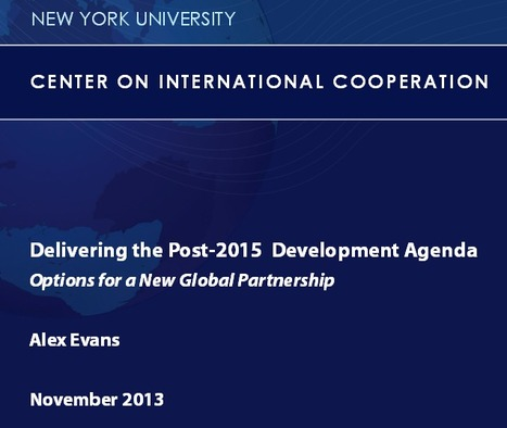 Delivering the Post-2015 Agenda: Options for a New Global Partnership | International Development Cooperation | Scoop.it