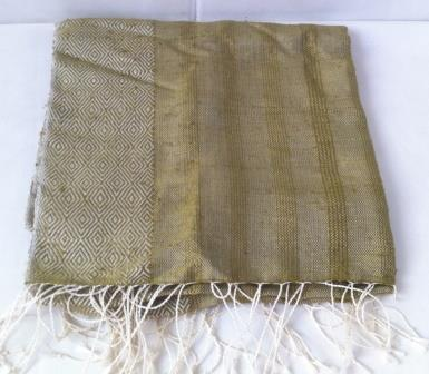 Fairtrade Cambodia, Natural Golden Cocoon Silk Shawl Scarf, ethically hand-woven by disadvantaged local women weavers in the community.   Silk Scarfs, Ethically handmade   Scoop.it