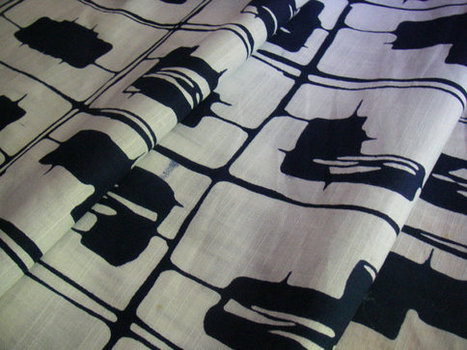 Vintage cotton Yukata Japanese kimono fabric par hiroetakenaka | JAPANESE FABRIC DESIGN | Scoop.it