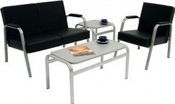 Reception Chairs-This reception furniture features a leather faced fin   Fashion Shopping   Scoop.it