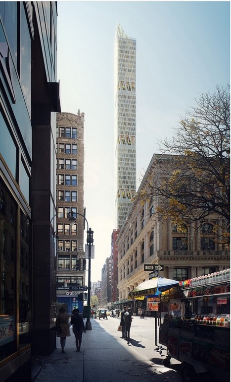 """Perkins+Will's """"Sleek"""" Manhattan Tower to Feature Five Open-Air Gardens 